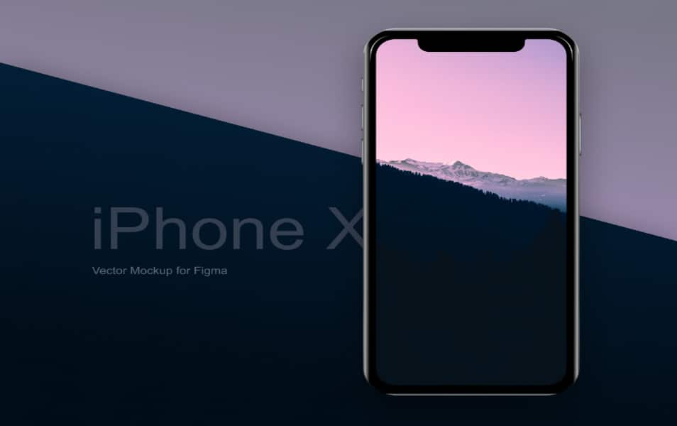 iPhone X Vector Mockup for Figma