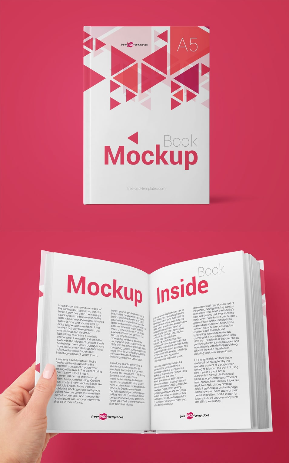 2 Free Book Mock-ups in PSD