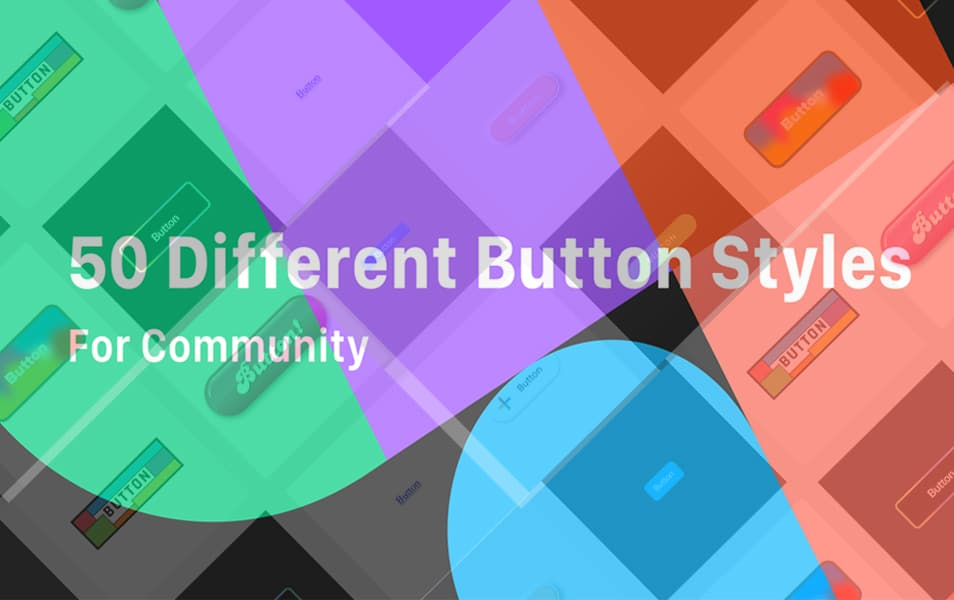 50 Different Style Buttons