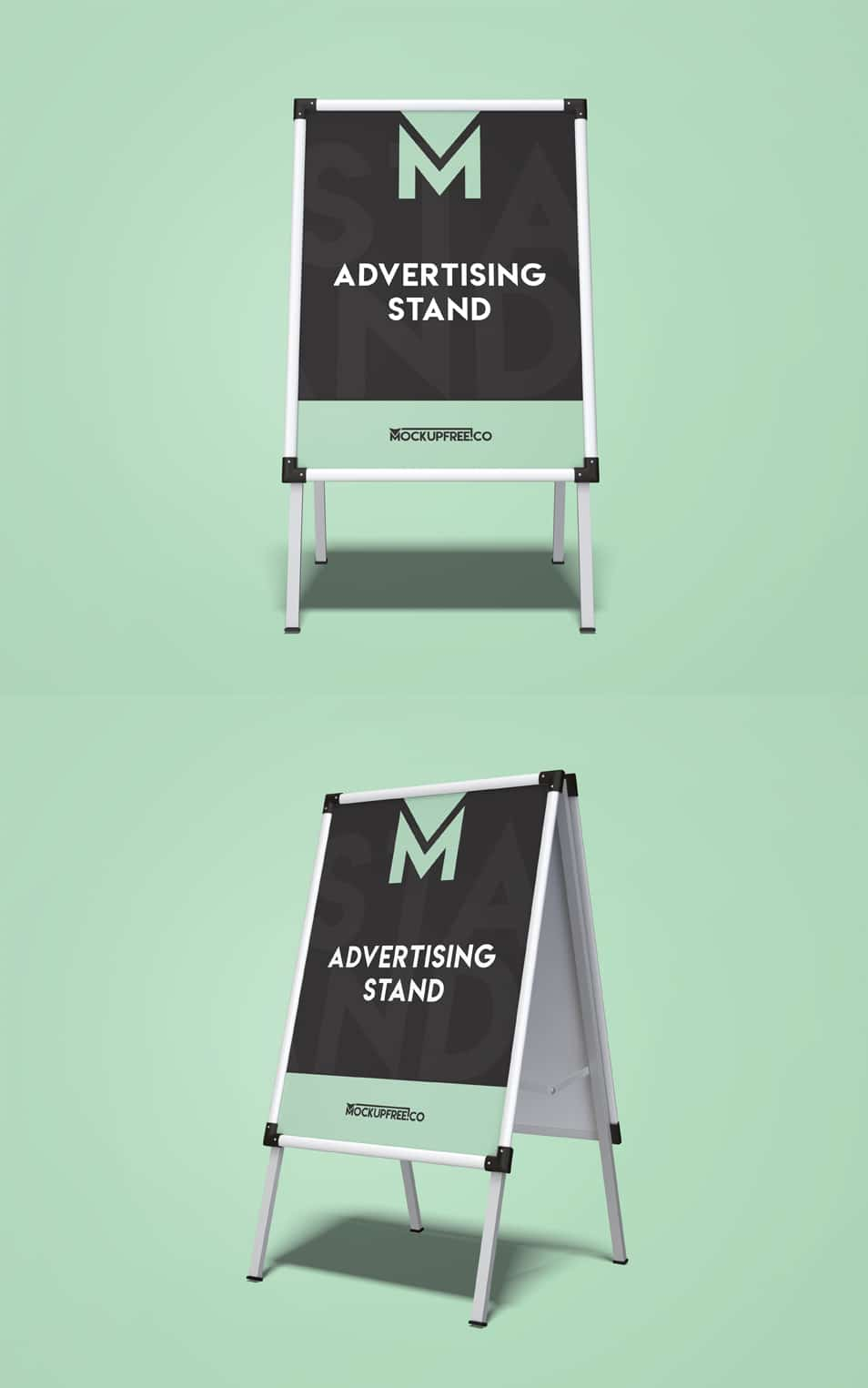 Advertising Stand 2 Free PSD Mockups