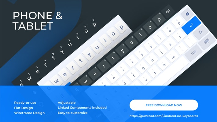 Android & IOS Keyboards (Tablet / Phone) - Figma Mockup