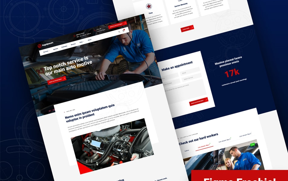 Auto Repair Homepage Figma Template