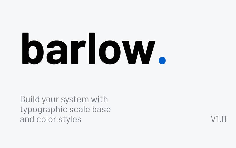 Barlow | Typographic Scale & Color Base