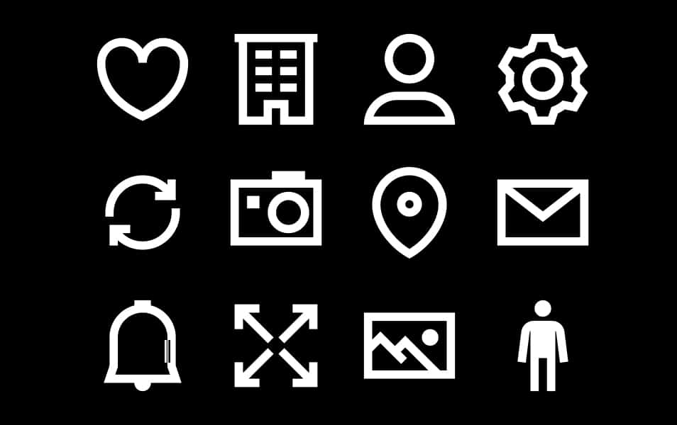 Chunky Lined Icons