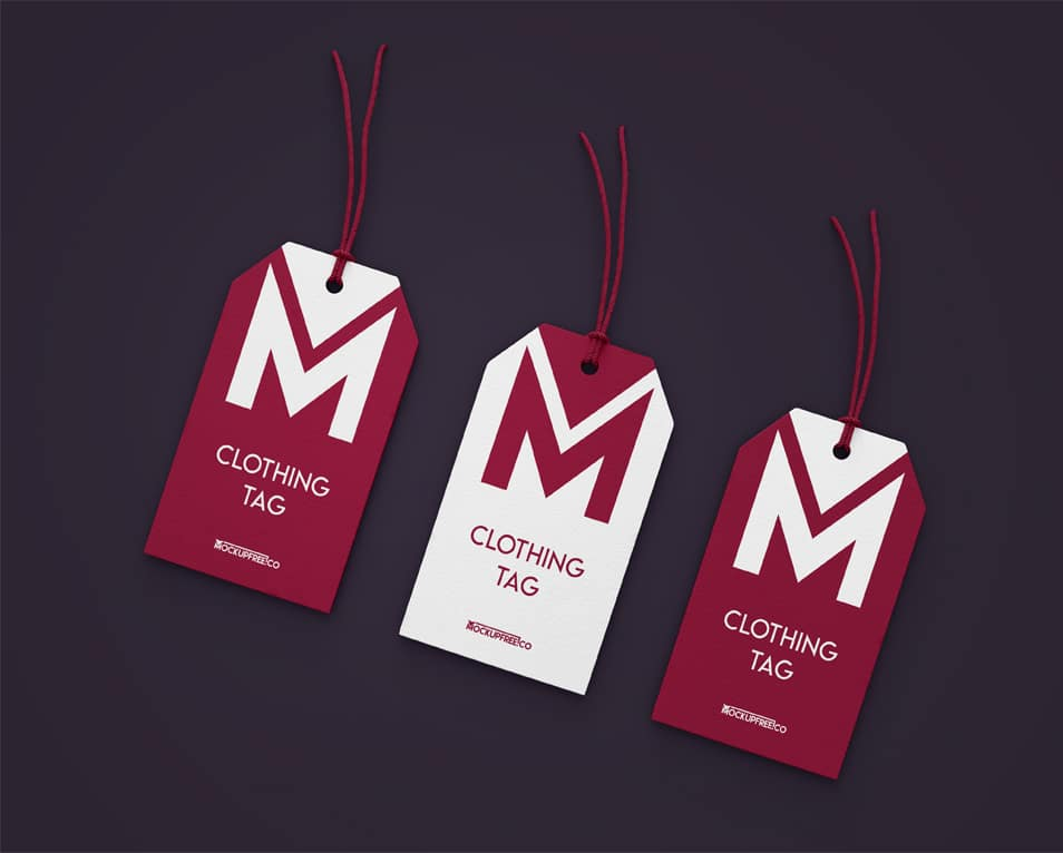 Clothing Tag 3 Free PSD Mockups