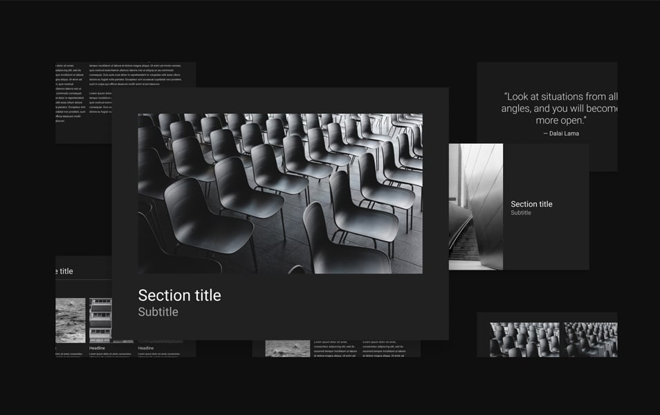 Dark Minimalistic Presentation Template