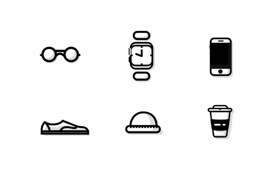 Designer's Shopping List Icons