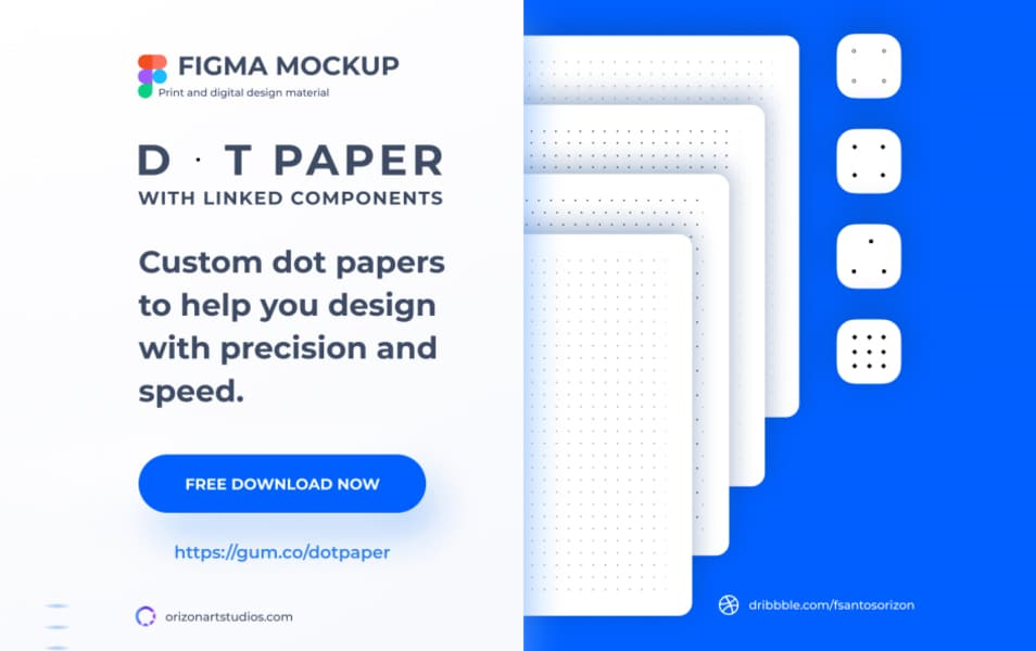 Dot and Grid Paper Template Free Figma Mockup