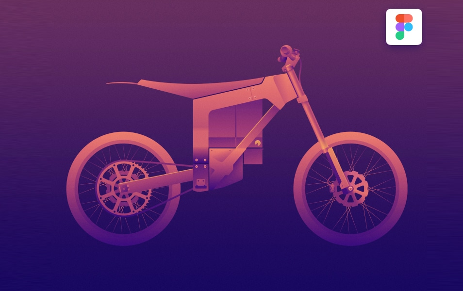 Electric Dirt Bike Illustraion