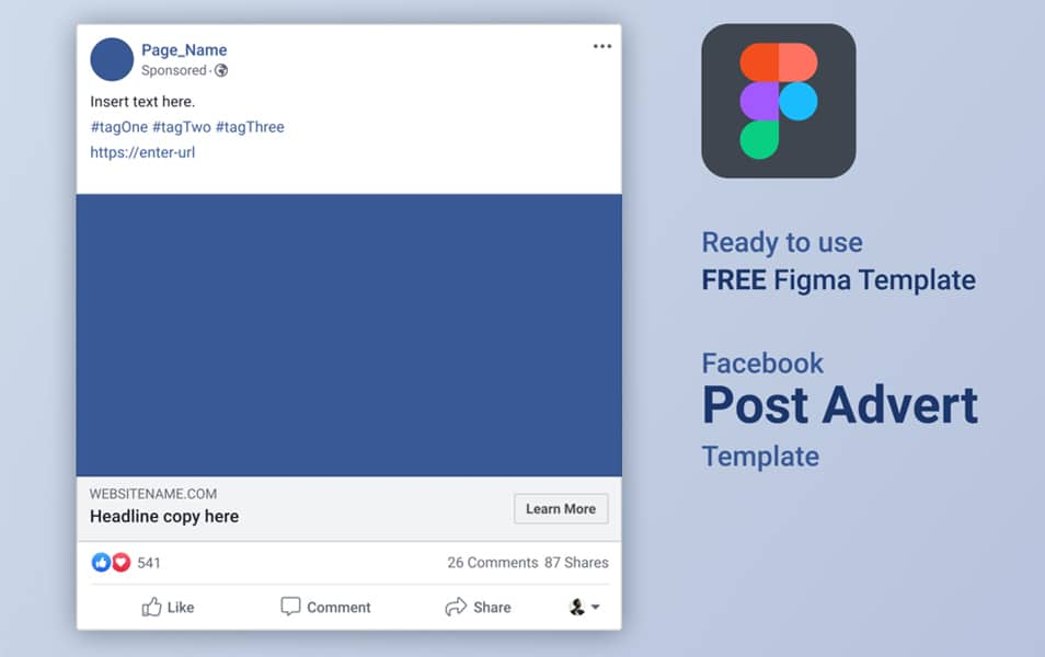 FREE Figma Facebook Advert Post Template