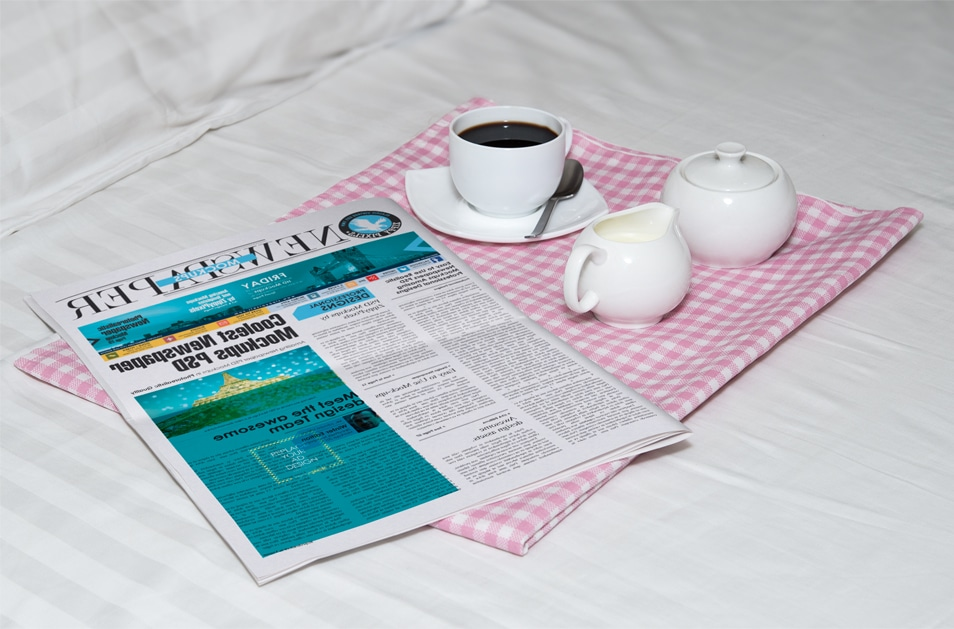 Free Awesome Morning Newspaper Mockup