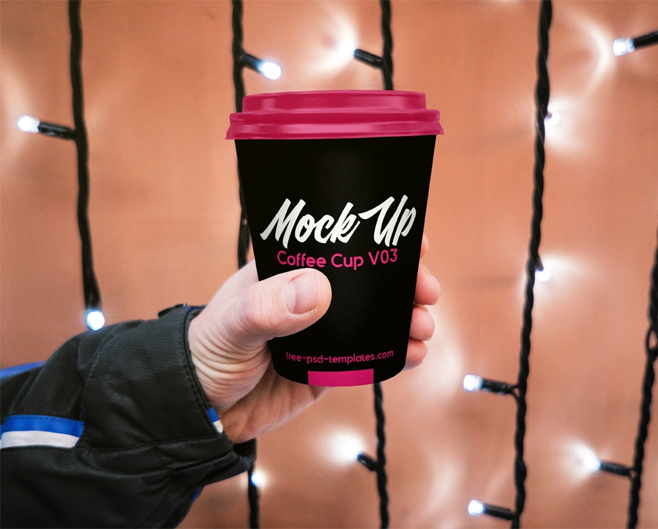 Free Coffee Cup Mock-up in PSD