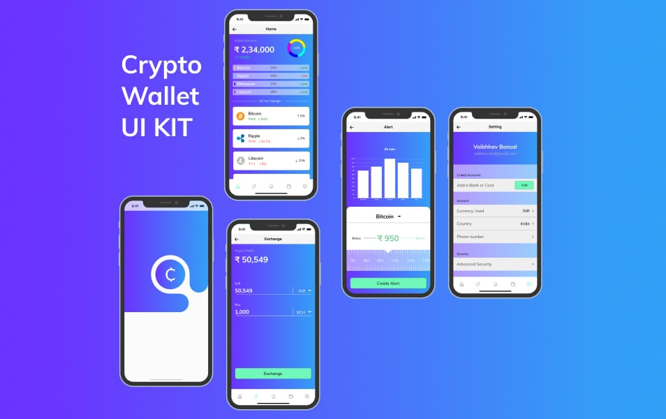 Free Crypto Wallet UI Kit
