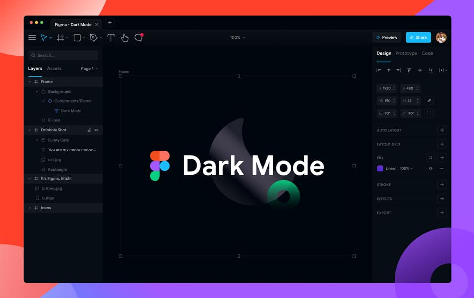 Free Figma App Dark Mode