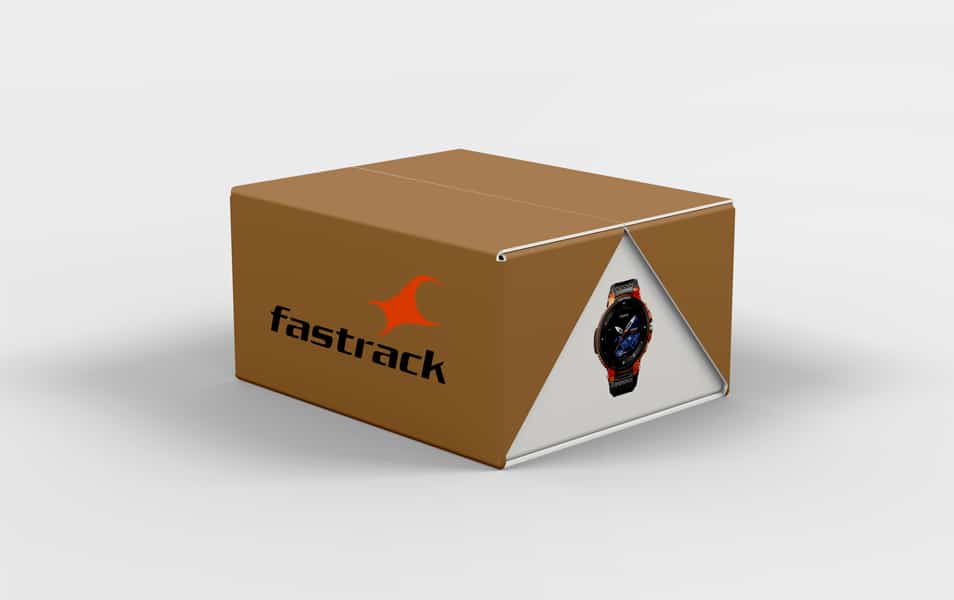 Free New Watch Box Packaging Mockup