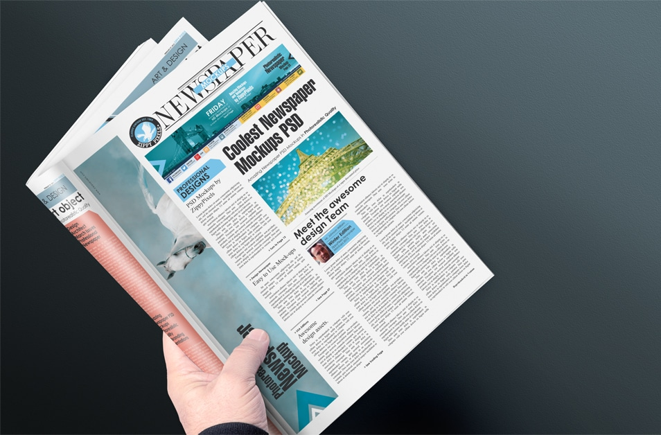 Free Newspaper Front Page Mockup