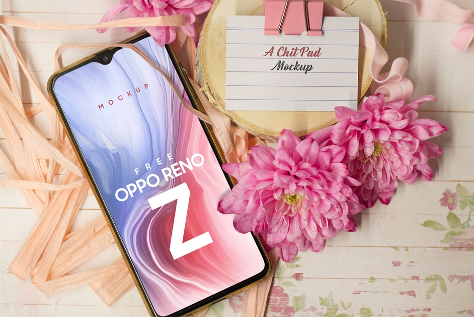 Free Oppo Reno Z Photo Mockup PSD