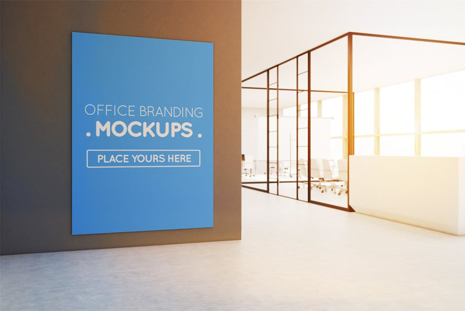 Free PSD Poster Mockup Outside