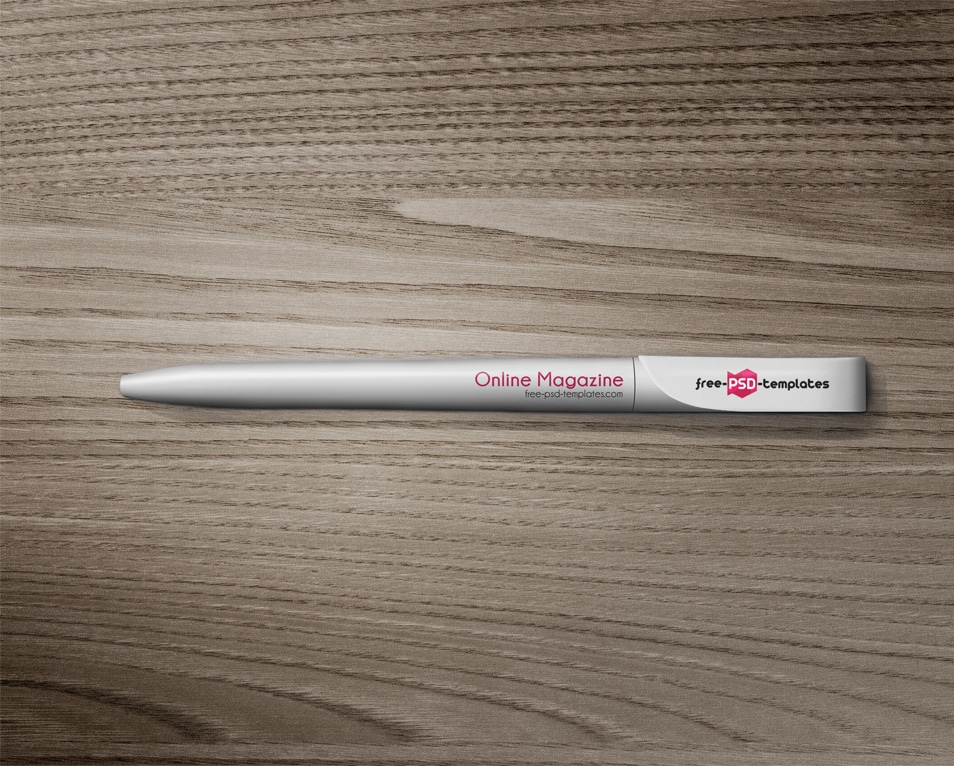 Free Pen Mock-up in PSD