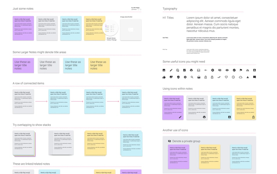 Free To Download Figma Notes Template