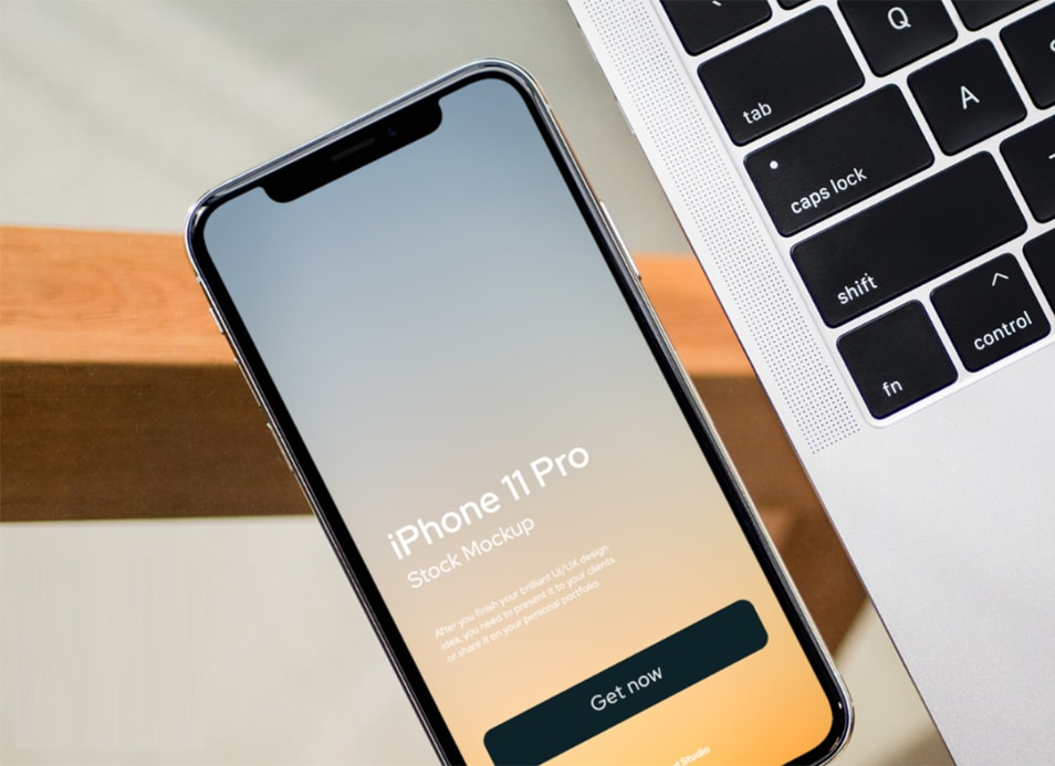 Free iPhone 11 mockup for Figma
