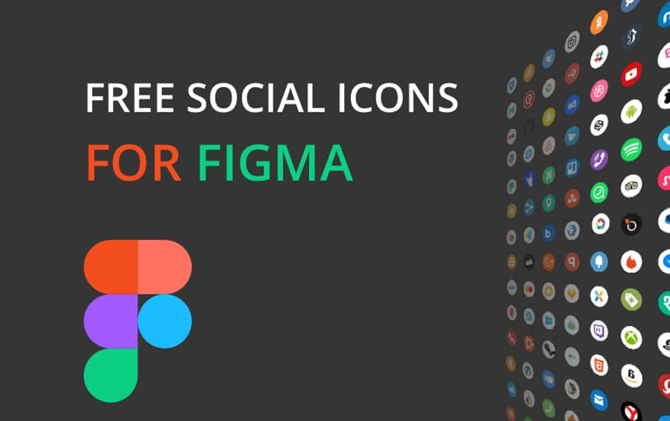 Free social Icons for Figma