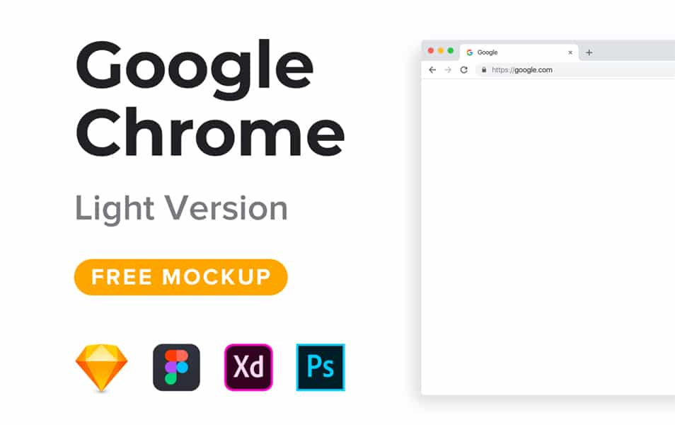 Google Chrome Mockup Freebie