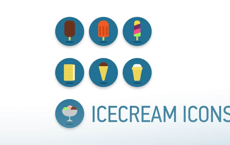 Icecream Mini Icons Set