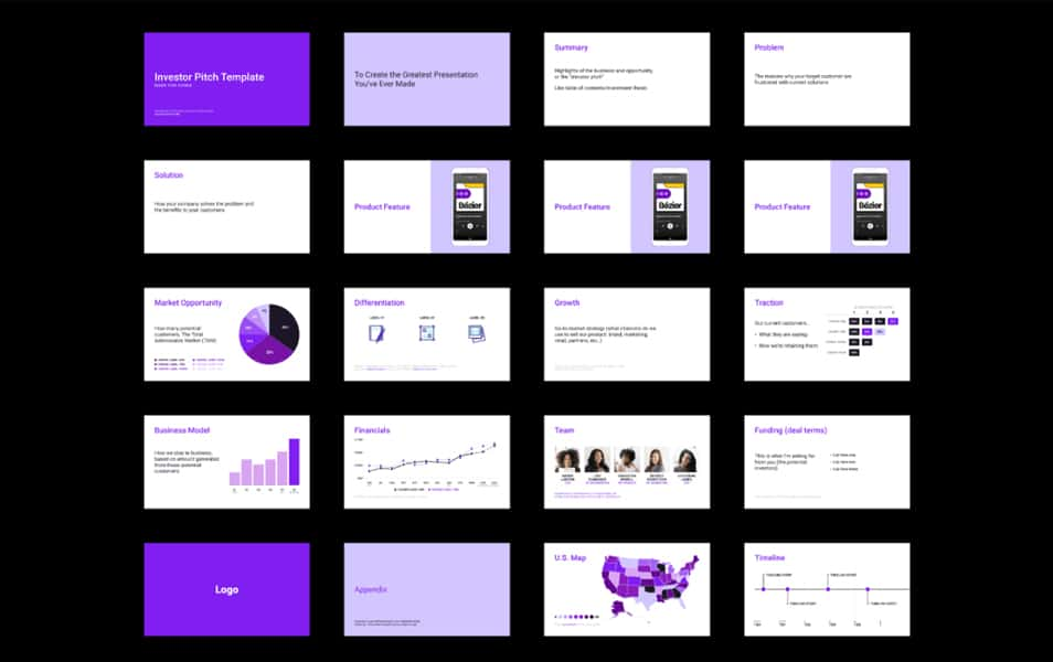 Investor Pitch Presentation Template