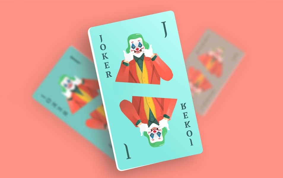 JOKER Playing Card Mockup