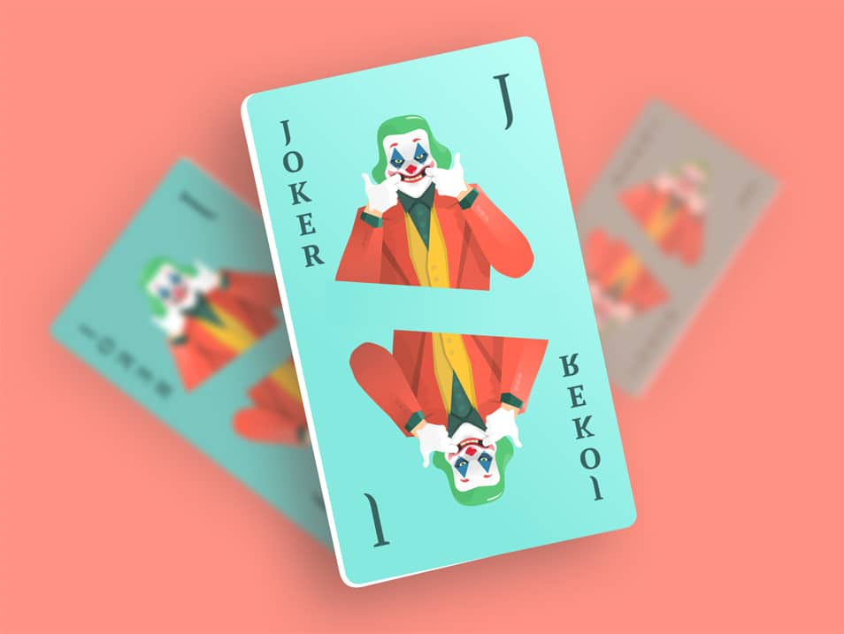 JOKER Playing card Illustration Mockup