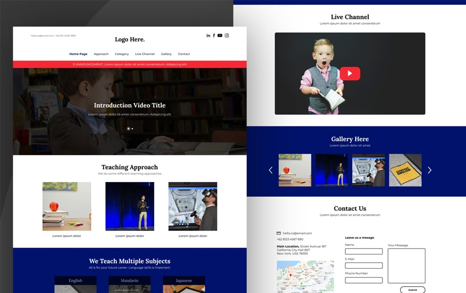 FREE Learning Center Landing Page UI Kit