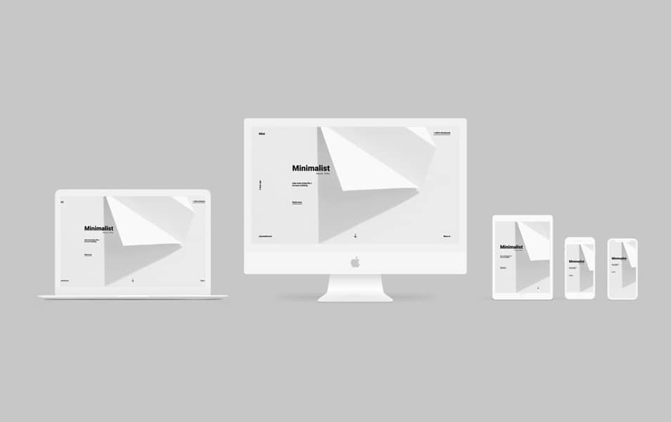Minimal Apple Devices Mockups
