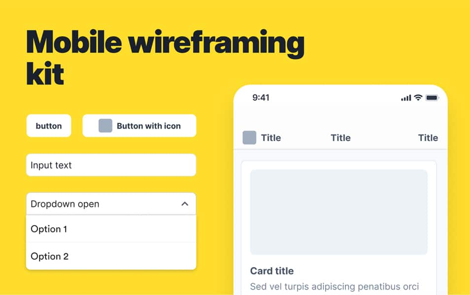 Mobile Wireframing Kit