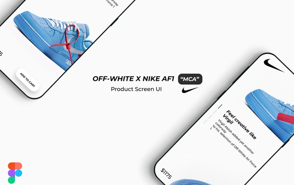 OFF-WHITE X NIKE AF1 MCA Product Screen UI