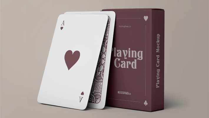 Playing Cards Free PSD Mockups