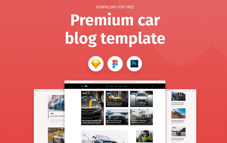 Premium Car Blog Template