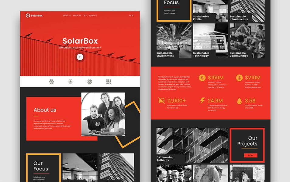 SolarBox Landing Page Figma Template
