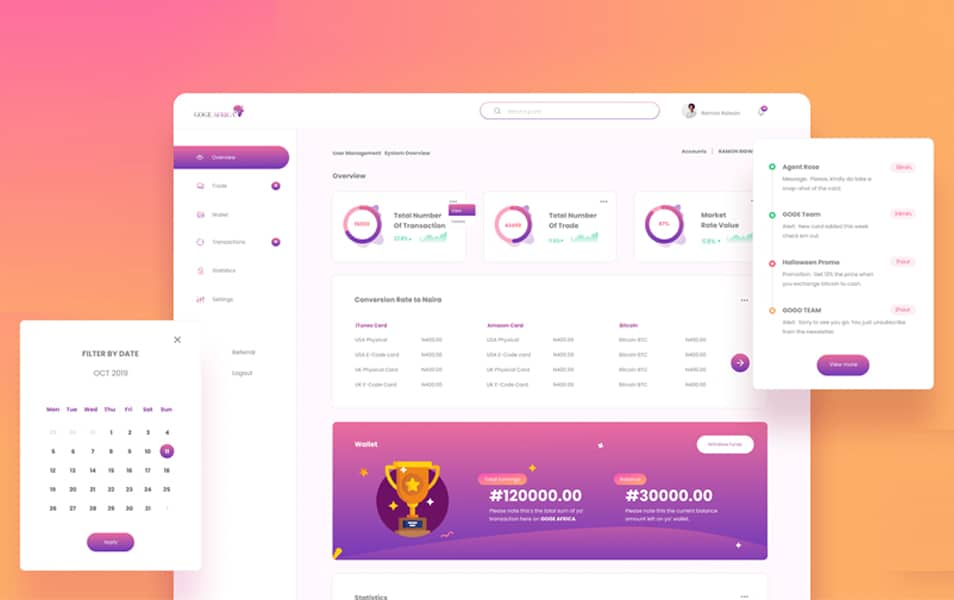 Web Dashboard UI Kit