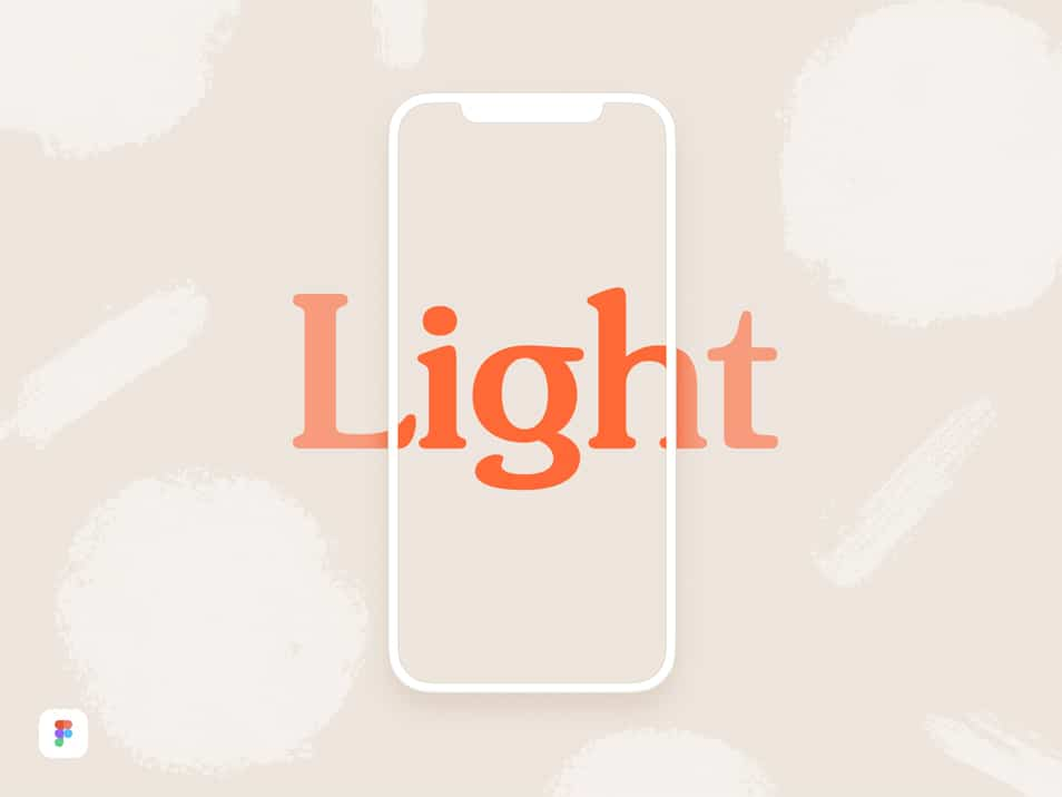 iPhone X Light Mockup Figma