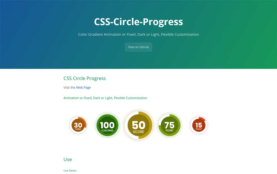 CSS Circle Progress
