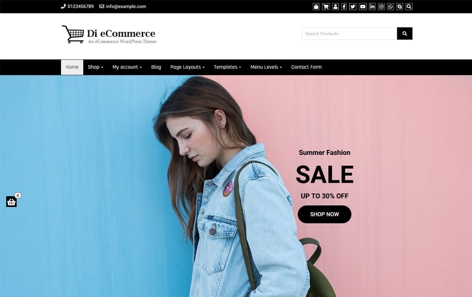 Di eCommerce WordPress Theme