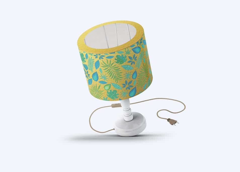 Free Beautiful Table Lamp Mock-up
