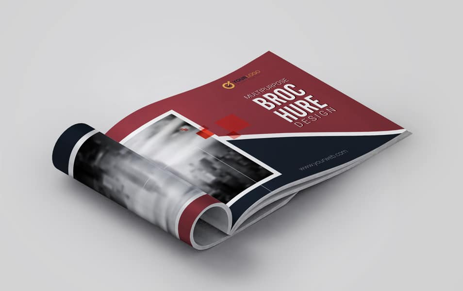 Free Business Open Catalogue Mockup
