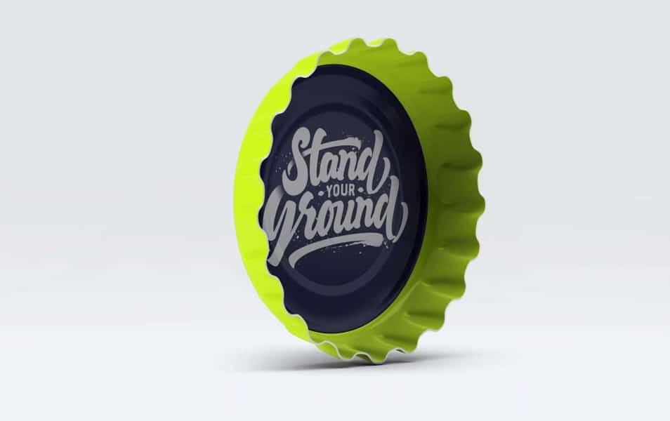 Free PSD Bottle Cap Mockup