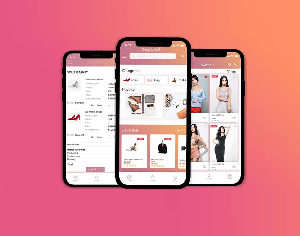 Shopping App UI Mockup