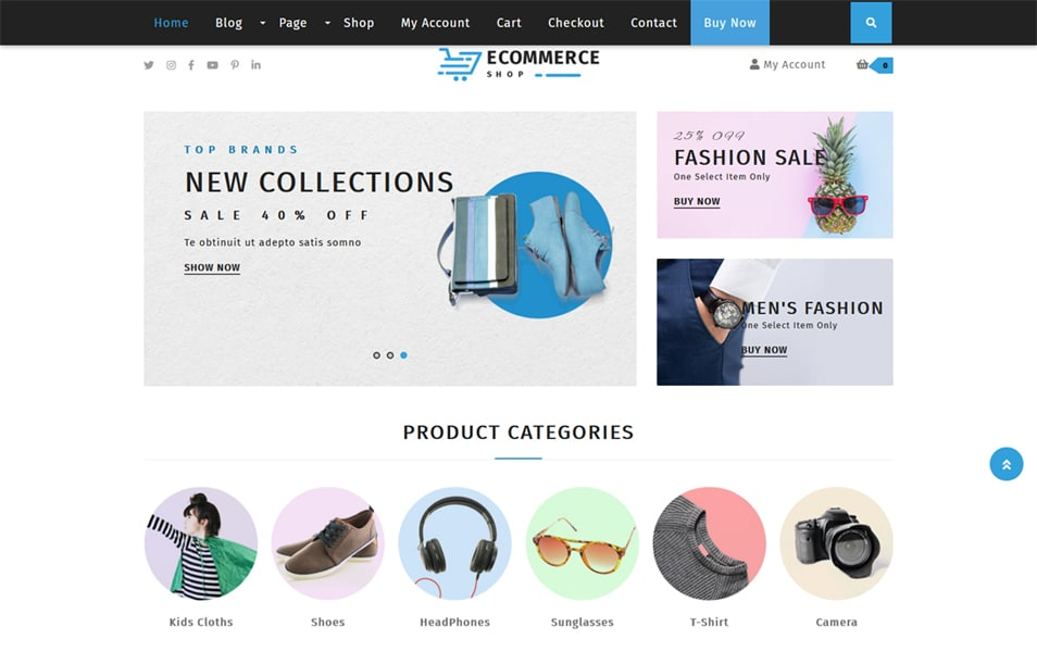 100 Free Ecommerce Wordpress Themes 2019 Css Author