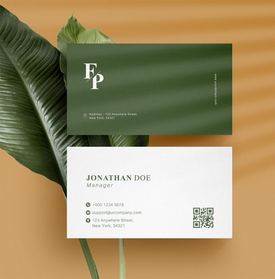 Clean Minimal Business Card Mock-Up