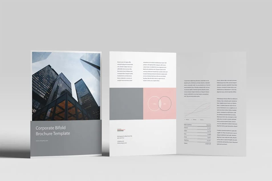 Free A4 Bifold Mock-Up