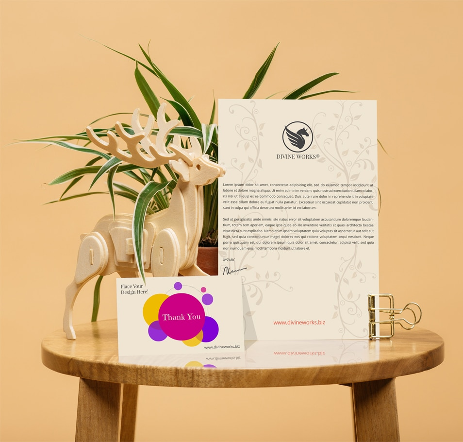 Free Greeting Card With Letterhead Mockup